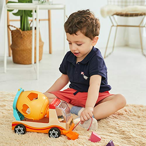 TOP BRIGHT Wooden Shape Sorter for Toddler 1 2 Year Old Boy Gifts, Childrens Learning Car Toy for One Year Old Girl
