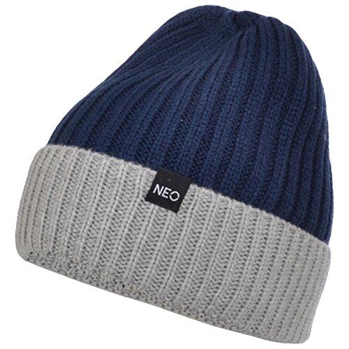 adidas NEO - Bonnet/Beanie tricoté - bicolore - femme - taille unique - Bleu foncé