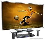 RICOO Monitorständer Bildschirmständer TV Ständer Podest FS6026-C Universal Standfuß Rack Fernsehständer LCD QLED QE 4K LED OLED IPS SUHD UHD 3D Curved/ 43cm/17-94cm/37 Zoll/Klarglas