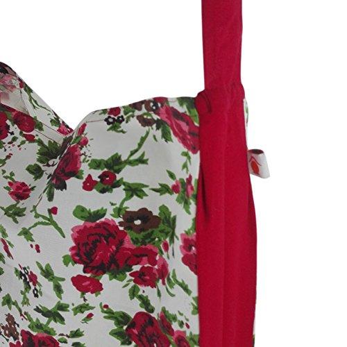 Borsa da spiaggia im Tote Bag stil| Shopping Borsa | Tote Bag stile | 45x 40cm | 12litri | inhoma24WOW Borsa da spiaggia | 100% cotone | lavabile e intemperie, Tela, Blumenmotiv Rosen in rosa, 45  Rose Pleasure