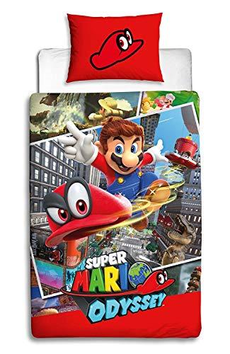 Nintendo Super Mario Odyssey - Funda edredón Reversible