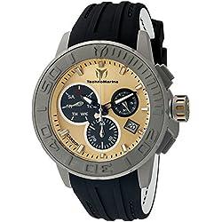 TechnoMarine TM-515005 - Reloj de cuarzo para hombres, color negro