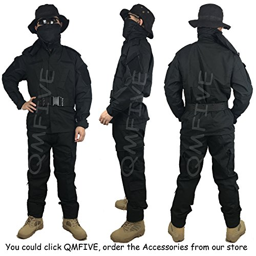 51nwYrQVorL. SS500  - QMFIVE Tactical Suit, Men's Camouflage Camo Combat BDU Jacket Shirt & Trousers Uniform War Game Army Military Paintball Airsoft Hunting Shooting Camo