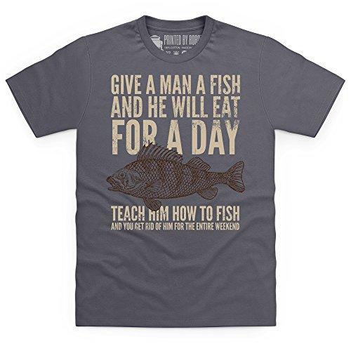 Give A Man A Fish T-Shirt, Herren Anthrazit