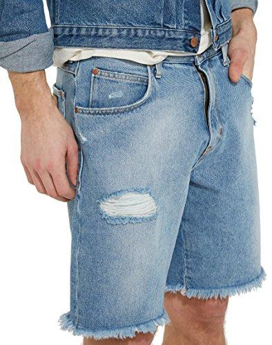 Wrangler Herren Regular Shorts Blau (Salted Rips 40)