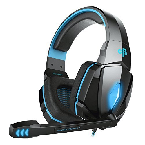 2. Cosmic Byte Over the Ear Headsets with Mic & LED - G4000 Edition (Blue)