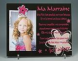 Cadre Photo Aimant - Poème pour Marraine - (Cadeau Parrain Marraine Baptême & Communion)
