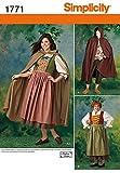 Simplicity Andrea SCHEWE Damen/Herren Schnittmuster 1771Panto Kostüme