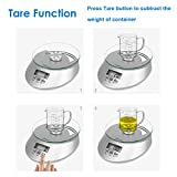 Kitchen Scale, Helect 5kg Multifunction Food Scale with Tare Function