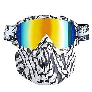 Fansport Motorradbrillen Maske Winddicht Anti Dust Outdoor Brille Mit Abnehmbarer Maske