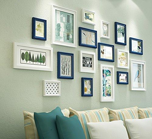 Global Set von 17 Bilderrahmen Set aus Holz DIY Foto Bild Wandrahmen Moderne große Wandbehang Bilderrahmen Wand ( Farbe : #2 )