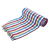 #9: SVR Handloom Multi Color Cotton Bath Towels - Big Towel (Pack of 3, 34 X 65 Inches, Highly Water Absorbent, Super Soft, Easy to Dry & Very Thin)
