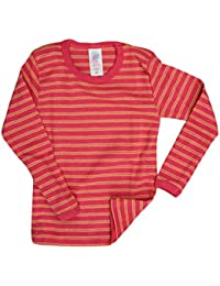 Camiseta de manga larga y rayas horizontales para niños de lana merina virgen, IVN BEST