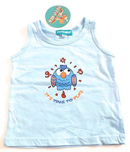 Vêtements Enfant Bébé - T-Shirt Débardeur Marcel Bleu Ciel - Hibou - 23 mois 55da2f2045dd