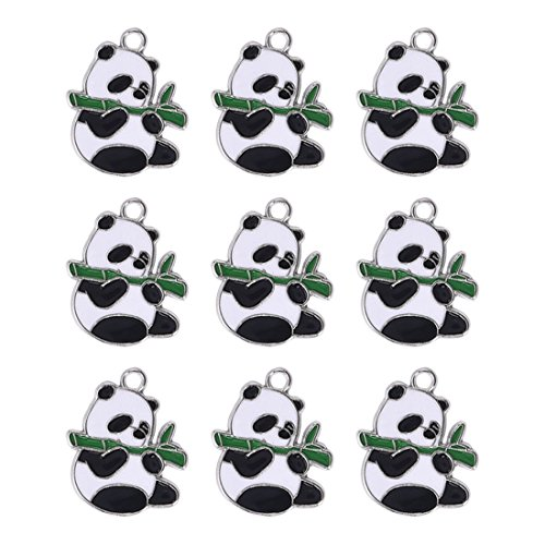 Obsede panda charms pendenti creazione di gioielli creazione di accessori per accessori bracciale collana orecchino 10 pezzi