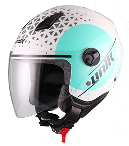 Unik CJ-16 Casco Jet Oracle azul turquesa S
