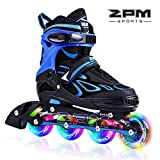 2pm Sports Vinal Azurblau Größe verstellbar Inline Skates für Jungen
