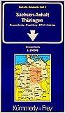 Deutsche Reisekarten, Bl.9, Sachsen-Anhalt, Thüringen (Kümmerly+Frey Strassenkarten, Band 9) - Collectif