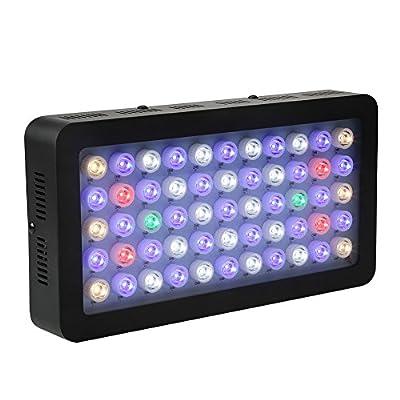LED Aquarium Éclairage Dimmable 55 LED Aquarium Lumière Plein Spectre Plantes Aquatiques Lampe Corail UE Plug, 85-265V 165W
