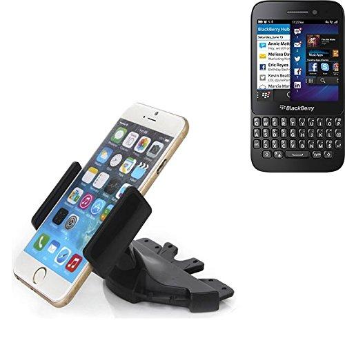 Slot CD Smartphone Supporto per Blackberry Q5   supporto per auto di uso generale per i dispositivi di navigazione / smart phones per il montaggio sullo slot CD dell'autoradio. Il titolare 360 è liberamente regolabile. La pinza è adatto a tutti i telefoni cellulari fino a 90 millimetri di larghezza. CD supporto per auto di slot, slot staffa auto auto di CD, fatto per smartphone, cellulare, navigazione / GPS