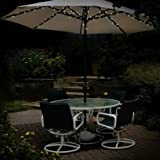 eBuzz 72LED premium solare ombrellone luci