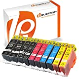 Bubprint 10 Druckerpatronen kompatibel für Canon PGI-520 CLI-521 für Pixma IP3600 IP4600 IP4700 MP540 MP550 MP560 MP620 MP630 MP640 MP980 MP990 MX860