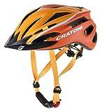 Cratoni Pacer Sondermodell 2018 Jugendhelm Kinderhelm Fahrradhelm (XS-S (49-55 cm), orange-weiss Visier schwarz)
