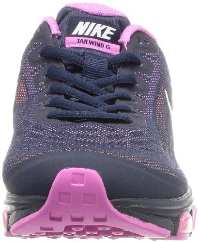 Nike Wmns Air Max Tailwind 6, Chaussures de Running Entrainement Femme Bleu - Azul Marino (Obsidian / Sail-Rd Vlt-Atmc Orng)