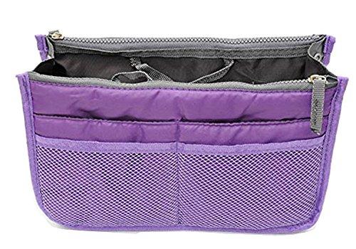 Westeng Damen Handtasche Dame Reise Veranstalter Fall Reisetasche Kosmetiktasche 12 Taschen Violett