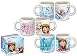 Unbekannt Disney Frozen/Eiskönigin Tassenset aus Porzellan, 3 Verschiedene Tassen im Set