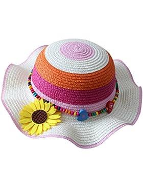 Leisial Cappello di paglia per bambini Cappello estivo Cappello da spiaggia Cappello da sole Cappello del fiore...