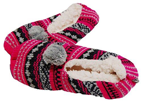 isotoner-pantofole-donna-slipper-con-teddy-fodera-suola-antiscivolo-super-soft-1-coppia-motivo-norve