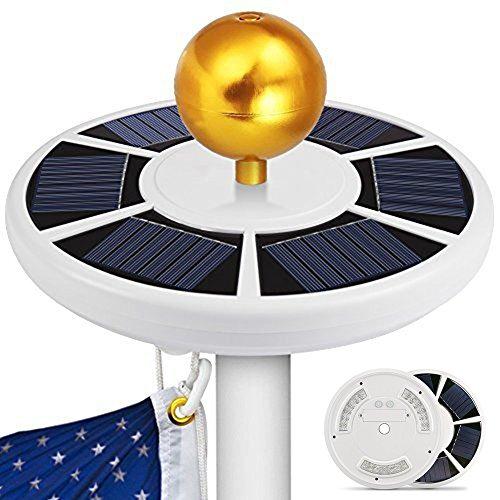 Alftek 42 LED Solar Flag Pole Light wasserdichtes energiesparendes Downlight für Camping im Freien