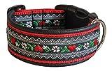 Ledustra Hundehalsband Herzblume Halsband Handarbeit Klickverschluss (38-43 cm)