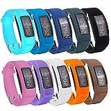Fit-Power Ersatz-Armband mit Schnalle für Garmin Vivofit 2 (ohne Tracker), Pack of 10