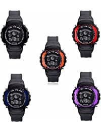 Iconic Digital Seven Light Combo Wrist Watch For Boy's & Kid's (Pack Of 5)