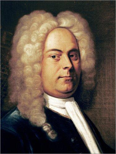 Poster 30 x 40 cm: Georg Friedrich Händel von Italian School/Bridgeman Images - hochwertiger Kunstdruck, neues ()