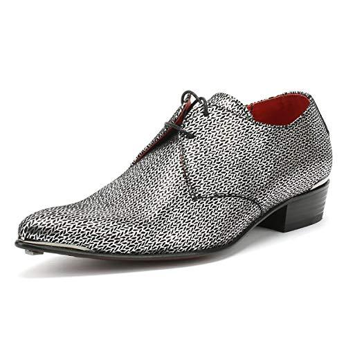 e0769baaf03424 Jeffery-West Mens Black Silver Adamant Derby Shoes-UK 8