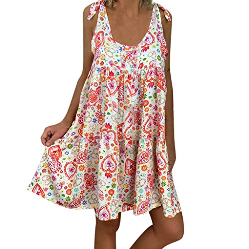 Robe Femme Droite Grande Taille Ample Imprime Floral Jaysis Robe Chemise Femme Ete Courte Tunique Chemiser Ete Chic Manche Courtes Volant Ourlet Robe Tee Shirt Sexy Col Round Casual Mode Mini Dress
