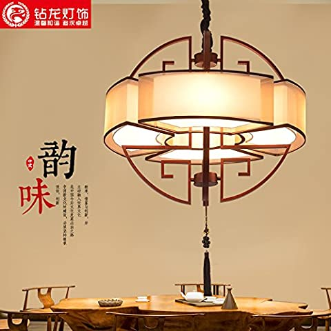 Industrial Vintage Pendelleuchte eine neue moderne chinesische Kronleuchter Deckenleuchten Pendelleuchte E27 Sockel s runde kleines Wohnzimmer helle Atmosphäre erinnert an das Restaurant Lampe leuchten Schlafzimmer Lampen Beschaffenheit Studie Serie L700 600
