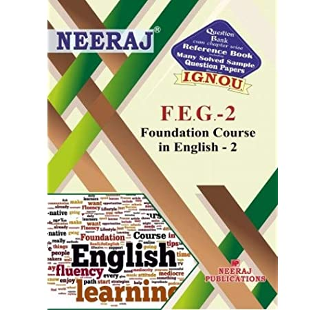 Buy Feg2 Foundation Course In English 2 Ignou Help Book For Feg 2 In English Medium Book Online At Low Prices In India Feg2 Foundation Course In English 2 Ignou Help Book For Feg 2 In English