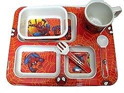 Art box Spiderman print Melamine meal set for kids ( all in one ) Birthday gift