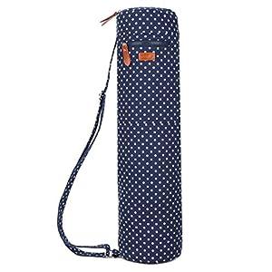 BAOSHA YG-28 Yoga Mat Bag Segeltuch Yogatasche Durchgehende Reißverschluss Tragetasche für Yoga, Pilates, Fitness und Gymnastikmatten mit Multifunktions Aufbewahrungstaschen