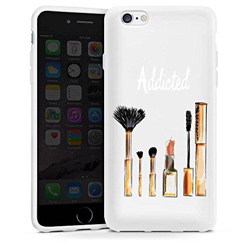 Apple iPhone 5 Silikon Hülle Case Schutzhülle Beauty Kosmetik Make Up Silikon Case weiß