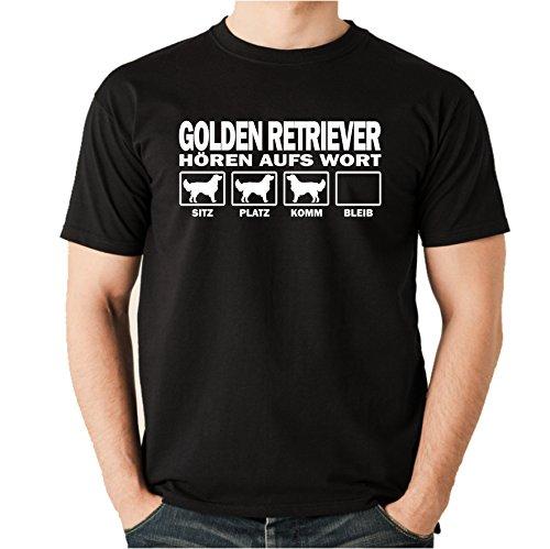 Siviwonder Golden Retriever Jagdhund Goldie - Hören AUFS Wort Unisex T-Shirt Shirt Hunde Hund Schwarz 3XL - Golden Ash Grey-t-shirt