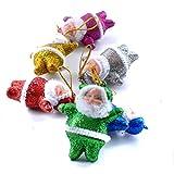 Tatis Zuhause Dekoration Buntes Weihnachten Santa Claus Ornaments Weihnachtsbaum hängende Dekoration Bunte Weihnachtsmann-Anhängerdekoration