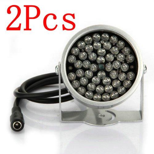 BW 2x 48 LED IR Illuminator Lampe CCTV Infrarot Sicherheit Kamera Licht Nachtsicht