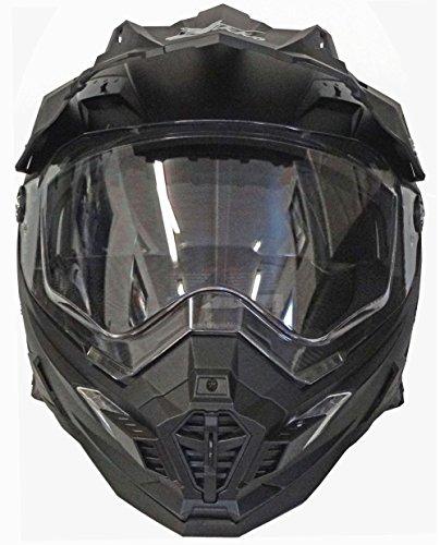 Motorradhelm MX Enduro Quad Helm matt schwarz mit Visier und Sonnenblende Gr. XL - 3