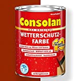 Consolan Wetterschutz-Farbe (750 ml, rotbraun)