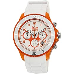 ICE-Watch Chrono Party Unisex Quartz Watch with White Dial Time Teacher Display and White Silicone Bracelet CH.WOE.BB.S.13